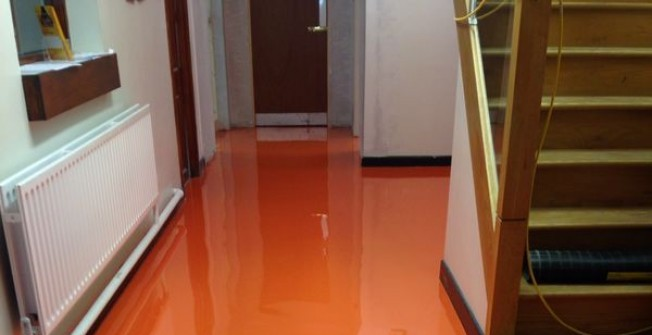 Indoor Resin Surfaces in Allwood Green