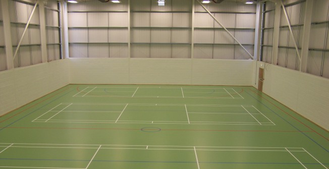 PU Sports Hall Markings in Almshouse Green